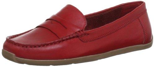 Clarks Hammond Way 20353834, Mocassini donna Rosso (Rot (Cherry Red))
