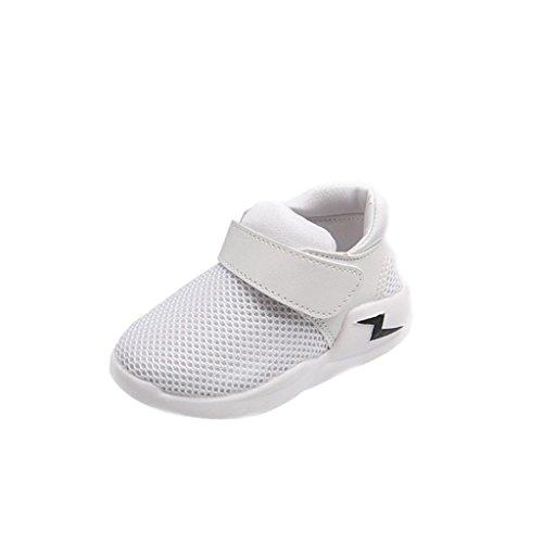 Baby Sneaker,Chshe Neue Art- und Weisejungen-beiläufige Turnschuh-Sportschuhe im Freien laufende Schuhe (27, Weiß) (Neue Fashion Beliebte)