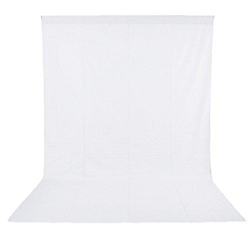 Neewer - Telón de Fondo para Estudio Fotográfico, Vídeo y Televisión, 100% Muselina Pura, Color Blanco, Medidas 6 x 9 pies /1.8 x 2.8 metros, Incluye únicamente el Fondo