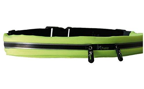 InTune Hüftgürtel Mit 2 Stretchtaschen Smart Belt SB2 Stretch Pockets Green/Black