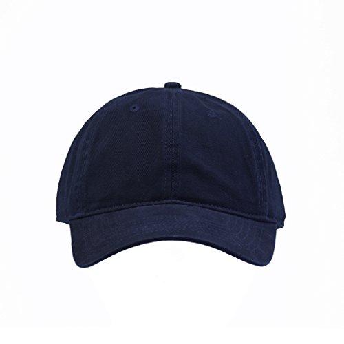 Concept ONE Damen Unisex Brushed Twill Cotton, Adjustable Baseball Cap, Black , Einheitsgröße Brushed Cotton Twill Cap