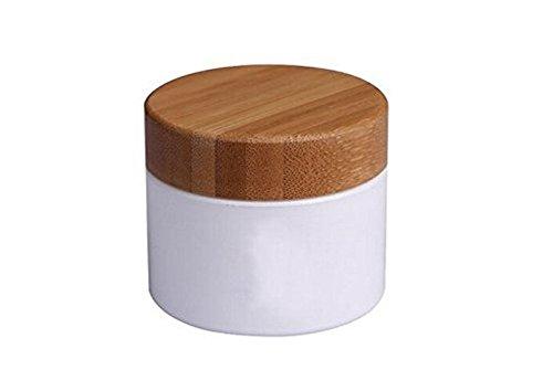 Bouteille Vide rechargeables Blanc Cosmétique Crème de 100 ml de stockage Bouteille récipient avec couvercle en bambou écologique