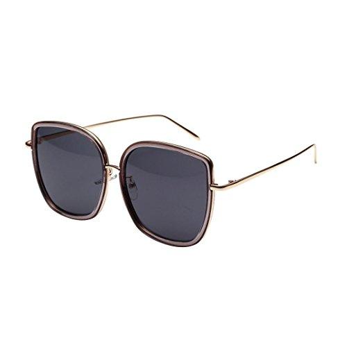 Trada Sonnenbrillen, Fashion Neutral Large Frame Sonnenbrille Sonnenbrille Integrierte UV-Brille Damenbrillen Herrenbrillen Frauen Retro Vintage Brille Nachtsichtbrille Eyewear Travel (Grau)