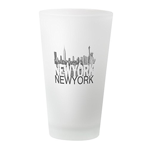 CafePress – New York Skyline – Pint-Glas, 16 oz Trinkglas frosted