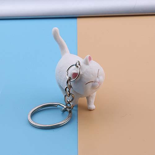 Jinlong Boutique Llavero Gatito Gato Llave Gato Blanco
