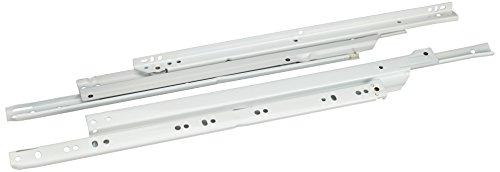 Schubladenführungen Vollauszug Belastung 40kg weiß L=450/A=480mm 1 Garn