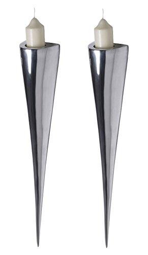 Artra Fackelleuchten XL 2er Set aus Aluminium Teelichthalter Kerzenhalter Kerzenleuchter Gastgeschenke
