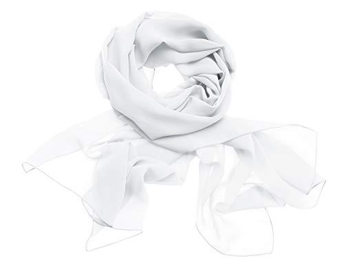 Dresstells Chiffon Schal Stola für Abendkleider in Verschiedenen Farben Ivory 190cmX70cm/ Medium - Ballkleid Light