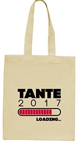 Geschenkidee natur Jutebeutel Stoffbeutel mit Tante 2017 Loading... Motiv von ShirtStreet Natur