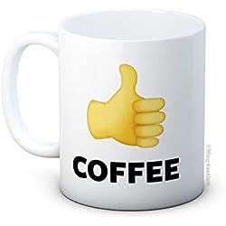 mug-tastic Like Coffee - Emoji Thumbs Up - Taza de café