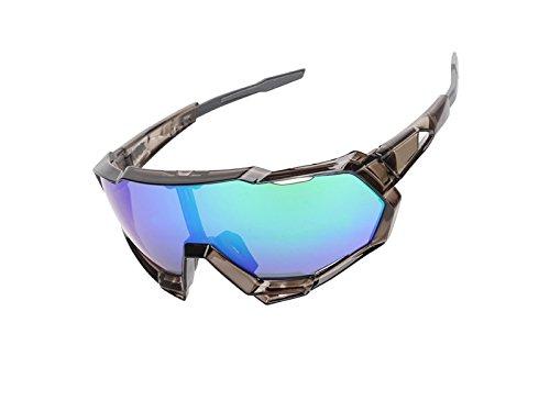 Yhcean Radfahren PanpA Männer polarisierten Schutz Sport Sonnenbrillen Radsportbrille Radfahren Gläser für Outdoor-Sport (dunkelgrau und lila) Fahrradzubehör