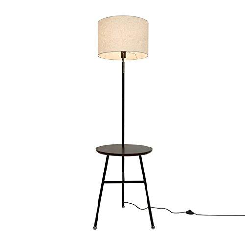 Protection des yeux Lampadaire pour enfants Américain simple créatif salon étude chambre verticale plateau table basse en bois lampadaire AA+