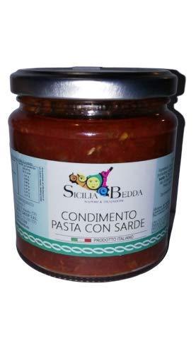 Sicilia bedda - condimento per pasta con le sarde e finocchietto selvatico in olio extra vergine di oliva 280 gr.