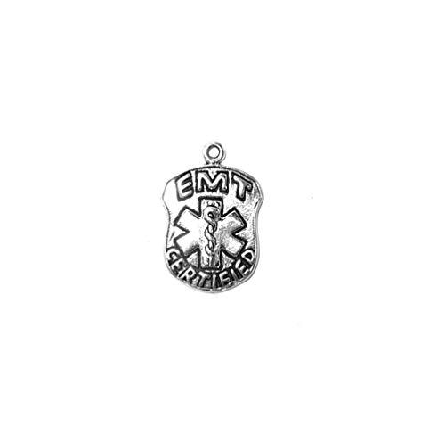 Schmuckprofessionals Anhänger Berufe EMT Badge Charm aus 925 Sterling Silber -