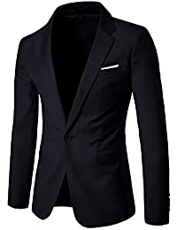 665189312 Mens Suit Jacket Business Blazer Casual Single Breasted Coat Suit Jackets  Dress Outwear Trenchcoat