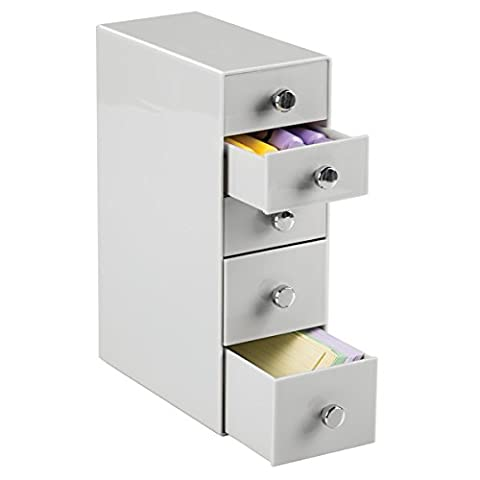mDesign Grey Filing Cabinet - Small Filing Cabinet For Home