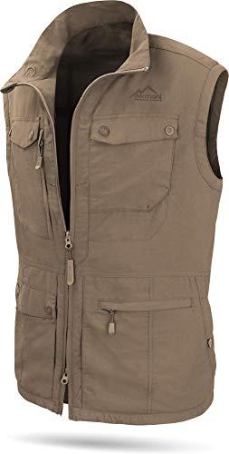 normani Herren Outdoor Weste mit atmungsaktivem Sonnenschutzmaterial 50+ [XS-5XL] Farbe Khaki Größe M