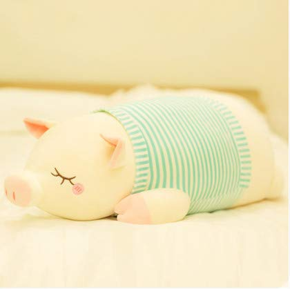 Piggy Plush Toy Doll Cute Bed With You Sleeping Pillow Doll Doll Doll Girl Hug Bear Super Cute Striped Pig Green 65Cm