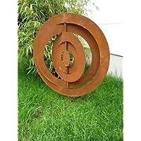 Edelrost Garten Stecker rostoptik Glück Symbol, 60cm ,Metal ,Gartenskulptur Deko