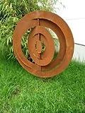 Para Jardín (Acero Inoxidable rostoptik Símbolo de la suerte, 60cm, metal, escultura de jardín...