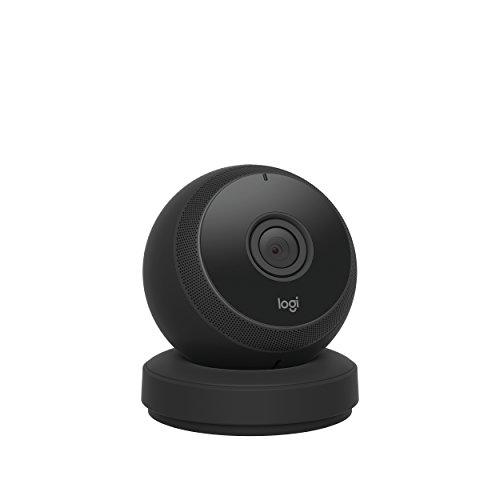 Logitech Circle, die batteriebetriebene kabellose Sicherheitskamera (mit 1080p-Videoqualität sowie Personenerkennung, Bewegungszonen und benutzerdefinierten Benachrichtigungen) schwarz