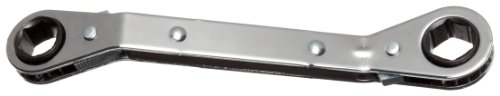 Offset Box Wrench (Martin RBO1618 Forged Alloy Steel 1/2 x 9/16 Opening 25 Degree Offset Ratcheting Box Wrench, 6 Points Standard, 6-15/32 Overall Length, Chrome Finish by Martin)