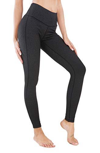 QUEENIEKE Damen Power Flex Yoga Hosen Training Laufende Leggings Farbe Holzkohle Schwarze Space Dye Größe L(12 (Holzkohle Kurze)