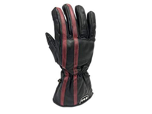By City - Gants d'hiver en cuir modèle Oslo noirs homologués XL marron
