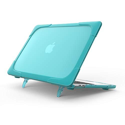 ProCase MacBook Air 13 Zoll Hülle 2018 A1932, Heavy Duty Dünn Hart Schalen Dual Layer Schutzhülle mit Klappständer für MacBook Air 13 Retina mit Touch ID -Hellblau Macbook Dual Layer