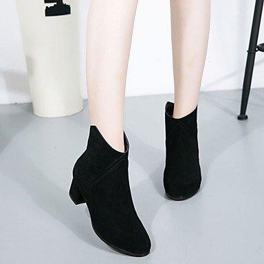 Scarpe da donna inverno Autunno Inverno Bovetta Casual Heavy Heel Black
