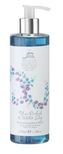 Boschi di Windsor Lily Blue Orchid e lavare acqua 350ml idratante mano, 1er Pack (1 x 350 ml)