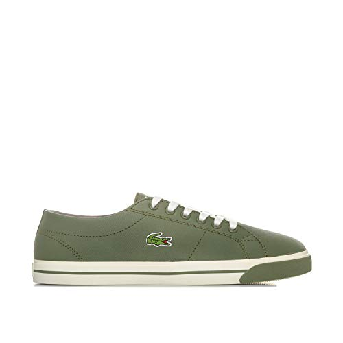 Lacoste Junior Boys Riberac Trainers in Khaki- Lace Fastening- Cushioned