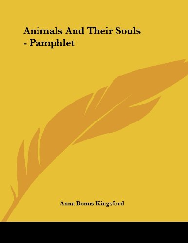 Animals and Their Souls - Pamphlet