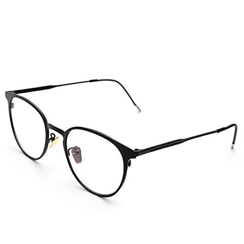 Shiduoli Brillen Brillen Brillen Retro Brillen Klarglas Brillen Unisex Nicht verschreibungspflichtige Brillen (Color : Black)