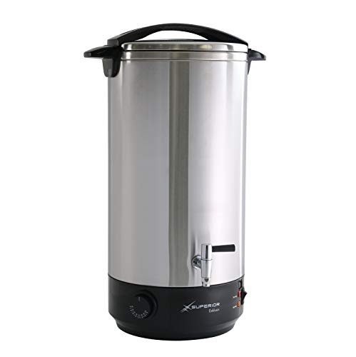 Glühweinkocher 22 Liter Heißgetränkespender + Edelstahlgehäuse-ideal als Heisswasserspender o.