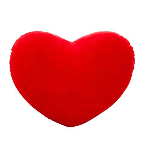 Haorw - cuscino di peluche a forma di cuore per compleanno, san valentino, festa della mamma, regalo, 15 cm. rot