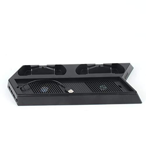 Ladekühlungshalterung Ideal für PS4-Konsole und -Controller. Kühlung Ladestation für Standfuß Vertikaler Standkühler mit Lüfter