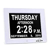 "ADDG 8"" calendar clock - memory loss digital calendar day clock day, month, time for the elderly perfect mom dad and seniors"
