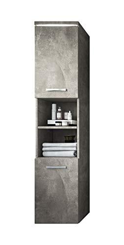 Badplaats B.V. Badezimmer Schrank Paso 160 cm Beton (Grau) - Regal Schrank Hochschrank Schrank Möbel -