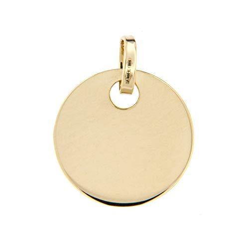 Lucchetta-Schmuck - 585 Gold-Medaillen-Anhänger, 14-karat Gold Unisex Medaillonanhänger ohne Kette (separat erhältlich)