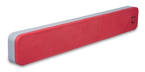 Bisbell 17211 - Barra magnética goma para máximo 5 cuchillos de 30 cm, color rojo