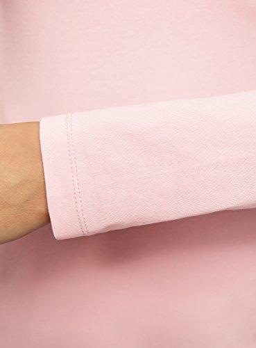 oodji Collection Damen Langarmshirt Rosa (4000N)