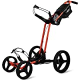Sun Mountain Pathfinder 4 Wheel Push Cart Golf Trolley Black/Inferno