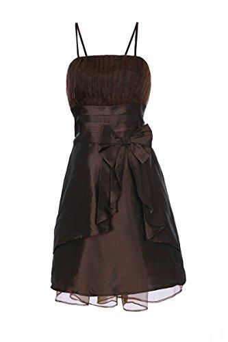 ROBLORA,Robe De Cérémonie Soirée Cocktail Mariage Robe Demoiselle D'honneur Baby002N Marron