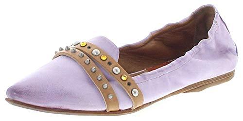 FLY FLOT Damenschuhe Hausschuhe bronze Leder für lose