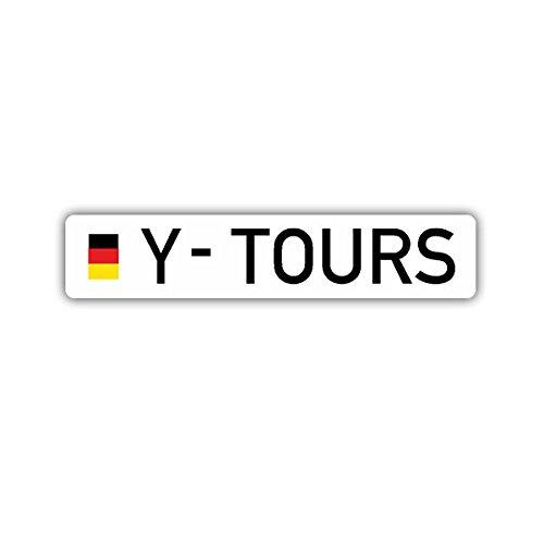 Copytec Aufkleber/Sticker - Y Tours Bundeswehr Kennzeichen Reservist BW Auslandseinsatz Humor Spaß Fun Reisen ISAF Afghanistan Kosovo 10x2cm #A1656