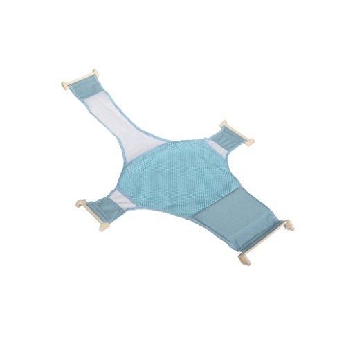 Bambino Neonato Regolabile Sedile Vasca Croce Sicurezza Supporto Doccia Maglia Netto - Blu
