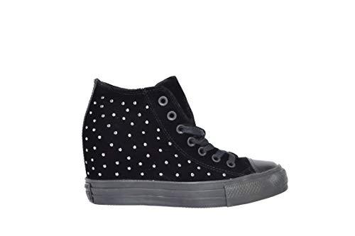 Converse ctas lux mid sneakers nero borchiata 558975c - 38, nero