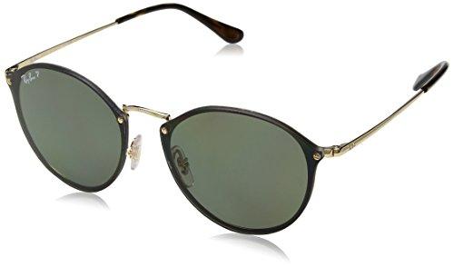 RAYBAN JUNIOR Unisex-Erwachsene Sonnenbrille Blaze Round, Gold/Darkgreenpolar, 59