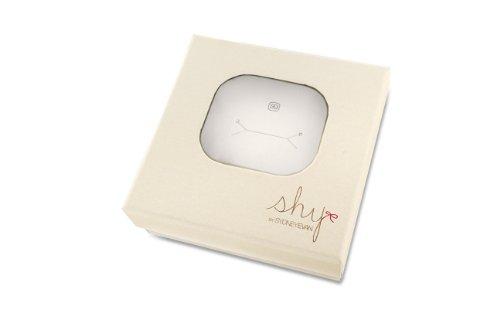 Shy by Sydney Evan Collier Plaqué Or Femme 41.275cm Blanc